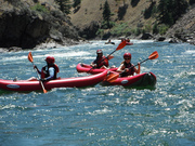 Kayak guests with Adventure Sun Valley on the Middle Fork of the Salmon River