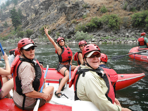 Rafting guests with Adventure Sun Valley on the Middle Fork of the Salmon River in Idaho