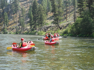 Adventure Sun Valley rafts on the Middle Fork of the Salmon River